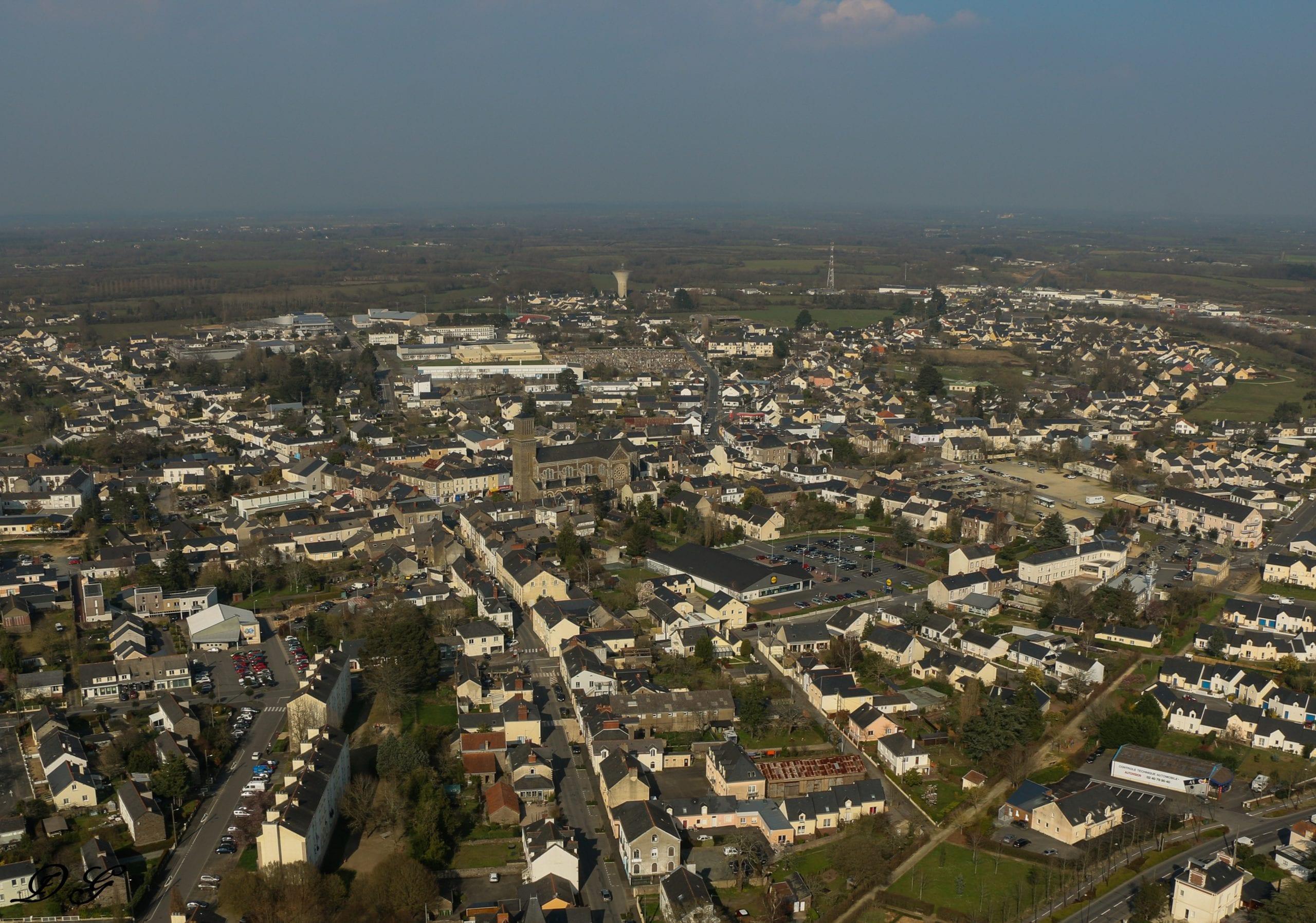 Ville de Blain (copyright Photo aérienne paramoteur)