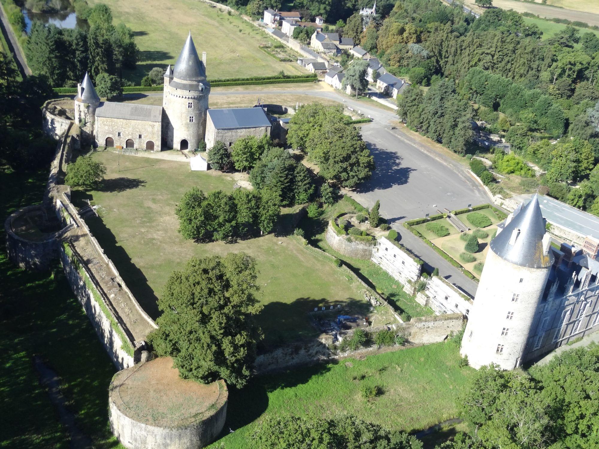 Château de la Groulaie - Photo aérienne paramoteur