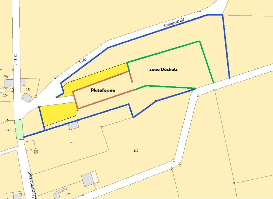 Plan des travaux prévus sur la déchèterie de Bouvron
