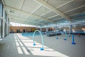 Lagune de jeux intérieurs de 60 m2 afin de permettre une approche ludique de la découverte de l'eau