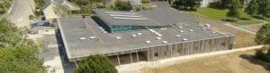 Vue aérienne du Centre aquatique Canal Forêt